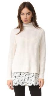 Кашемировый свитер с кружевным слоем ONE by Sienna & Zac