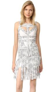 Платье Joseline с бахромой Herve Leger