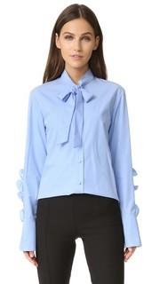 Блуза с оборчатыми рукавами Sjyp