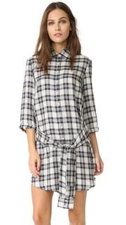 Платье-рубашка Claremont в клетку с завязками спереди BB Dakota