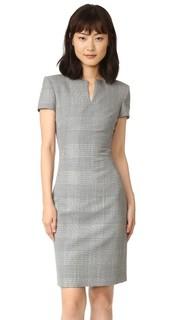 Платье с короткими рукавами в неяркую клетку Gareth Pugh