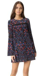 Платье-трапеция с цветочным рисунком в фольклорном стиле Cynthia Rowley