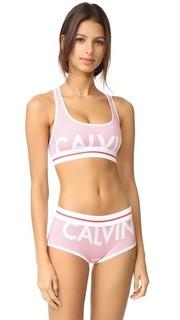 Современный бюстгальтер без косточек и без подкладки из хлопка Calvin Klein Underwear