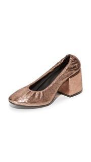 Металлизированные эластичные туфли-лодочки MM6