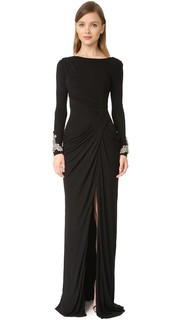 Драпированное вечернее платье Badgley Mischka Collection