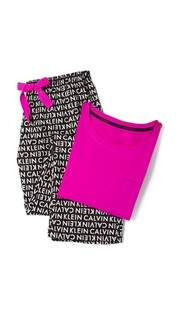 Подарочная пижама из фланели Calvin Klein Underwear
