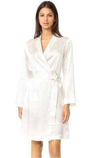 Короткий шелковый халат La Perla