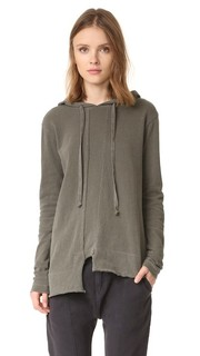 Пуловер с капюшоном и необработанным низом Wilt