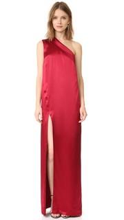 Вечернее платье с асимметричными лацканами Michelle Mason