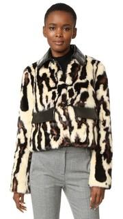 Пальто из искусственного меха с леопардовым принтом Carven