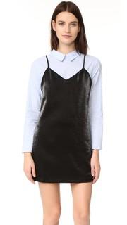 Комбинированное платье-рубашка English Factory