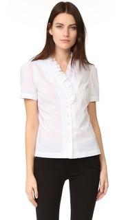 Блуза с оборками на вырезе Frame