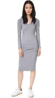 Платье с V-образным вырезом и длинными рукавами Monrow