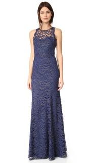 Кружевное вечернее платье Marchesa Notte