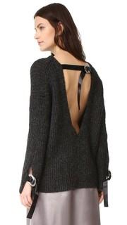 Пуловер из шерсти альпака с открытой спиной 3.1 Phillip Lim