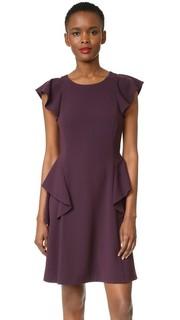 Платье с оборками и короткими рукавами Rebecca Taylor