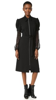 Платье из шерсти и шифона Rodarte