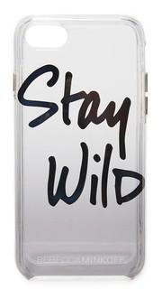 Чехол для iPhone 7 с надписью «Stay Wild» Rebecca Minkoff