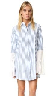 Платье-рубашка в полоску на пуговицах Clu