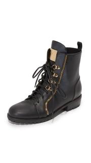 Кожаные армейские ботинки Giuseppe Zanotti