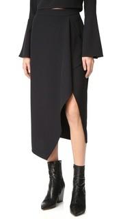 Асимметричная драпированная юбка Kendall + Kylie