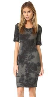 Приталенное платье с короткими рукавами Raquel Allegra