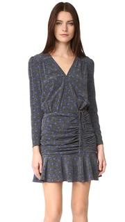 Платье Lou Lou с присборенной оборкой Veronica Beard