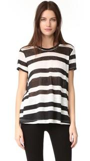 Льняная футболка Baby с отстрочкой Wilt