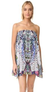 Мини-платье без бретелек Camilla