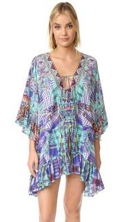 Короткое платье с завязками спереди Camilla