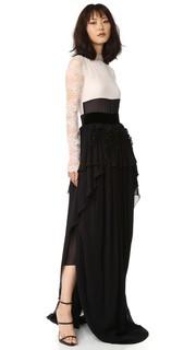 Вечернее платье с длинными рукавами Antonio Berardi