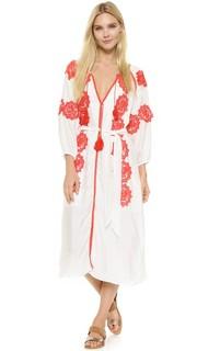 Макси-платье Beaux с декоративной отделкой Line & Dot