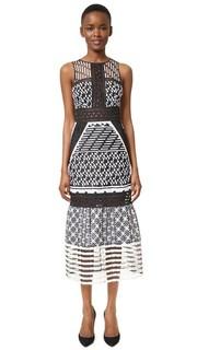 Вечернее платье из органзы с вышивкой Jonathan Simkhai