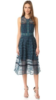 Миди-платье с комбинированной вышивкой Jonathan Simkhai