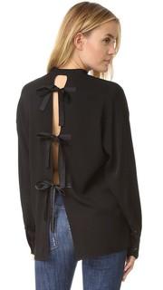Блуза с завязками на спине Helmut Lang