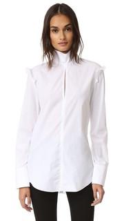 Блуза из ткани в рубчик Nina Ricci