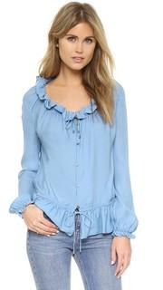 Блуза с воротником и оборками Haute Hippie