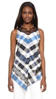 Кружевная блуза Rosette с подолом в виде платка Wes Gordon