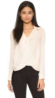 Блуза Rita с драпировкой спереди Lagence
