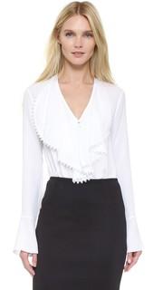 Блузка с рюшами спереди Yigal Azrouel