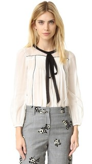 Блуза с завязками в деревенском стиле Marc Jacobs