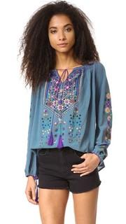 Туника Raffaela с вышивкой Blue