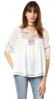 Полупрозрачная рубашка с длинными рукавами Christophe Sauvat Collection