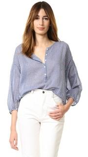 Блуза Provence из клетчатой вуали Nili Lotan