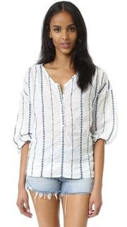 Блуза Provence с вышивкой в полоску Nili Lotan