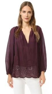 Блуза Saint Tropez с вышивкой Nili Lotan