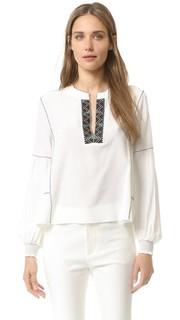 Блуза с длинными рукавами и манжетами со сборками. Derek Lam 10 Crosby