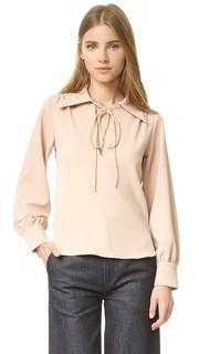 Блузка с воротником-галстуком See by Chloe