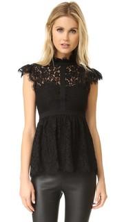 Блуза из кружева со вставками и высоким вырезом Rachel Zoe