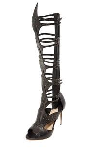 Гладиаторские сандалии Leila Gladiator на каблуках Paul Andrew